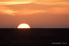 伯耆の国散歩 港の夕景 2