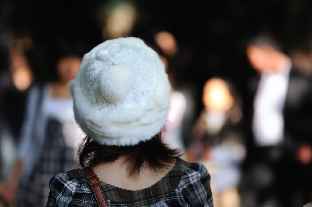ふわふわニット帽