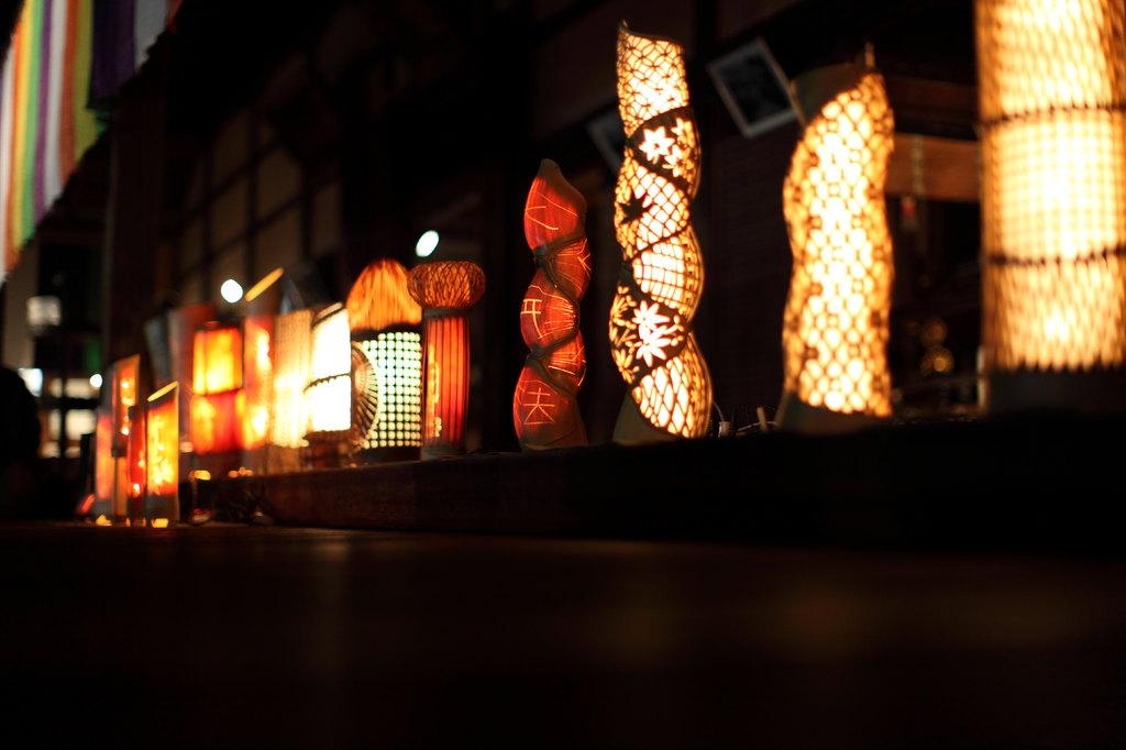 竹細工の灯篭