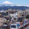 富士に見守られ走る
