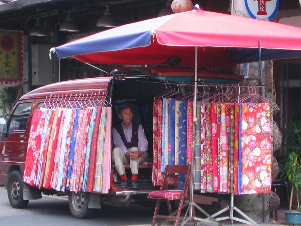 台湾の街角にて