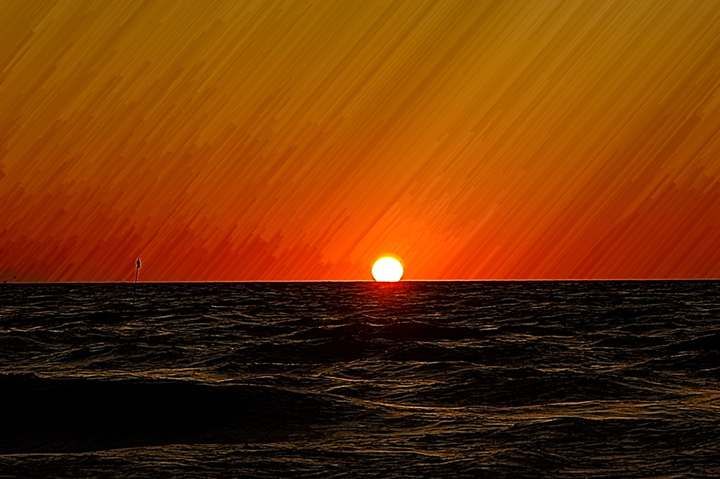 海に沈む太陽