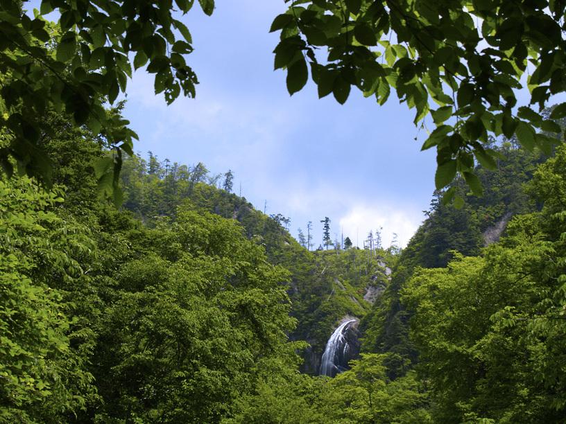 安の滝遠望