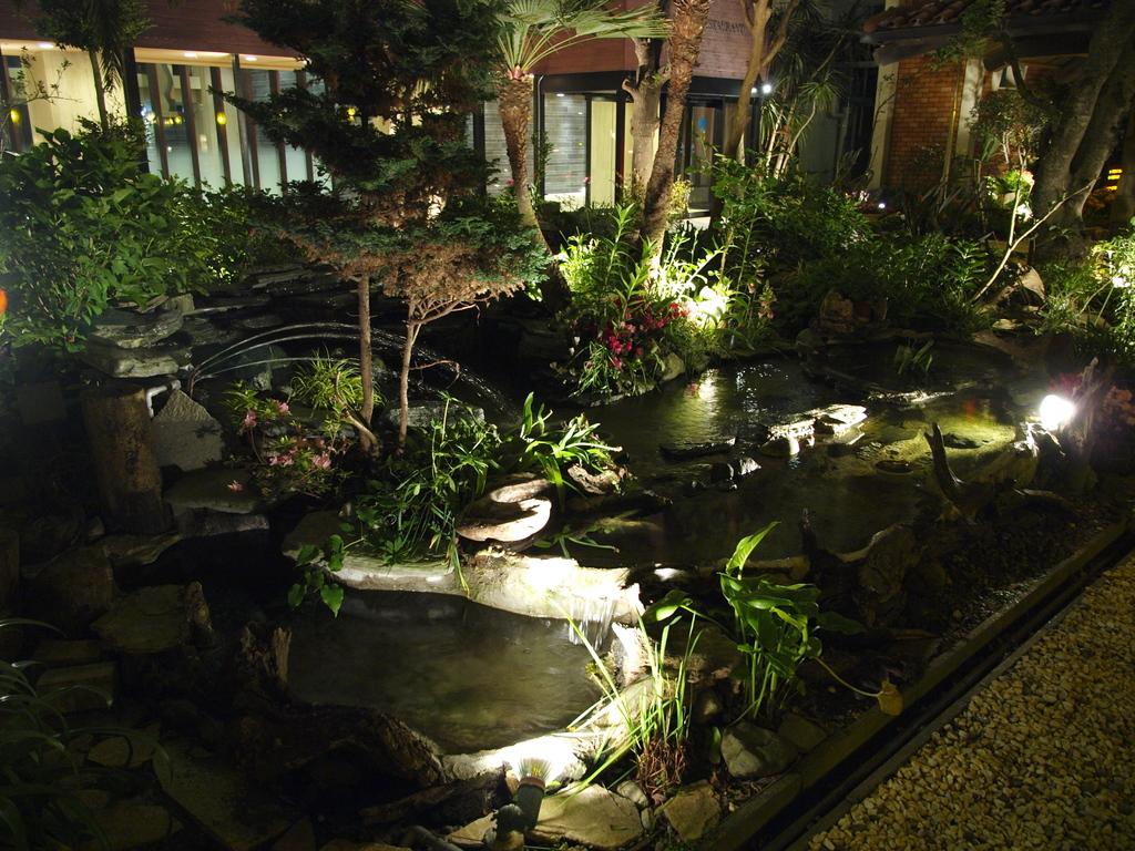 ホテルの庭園