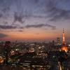 暮れゆく東京の街