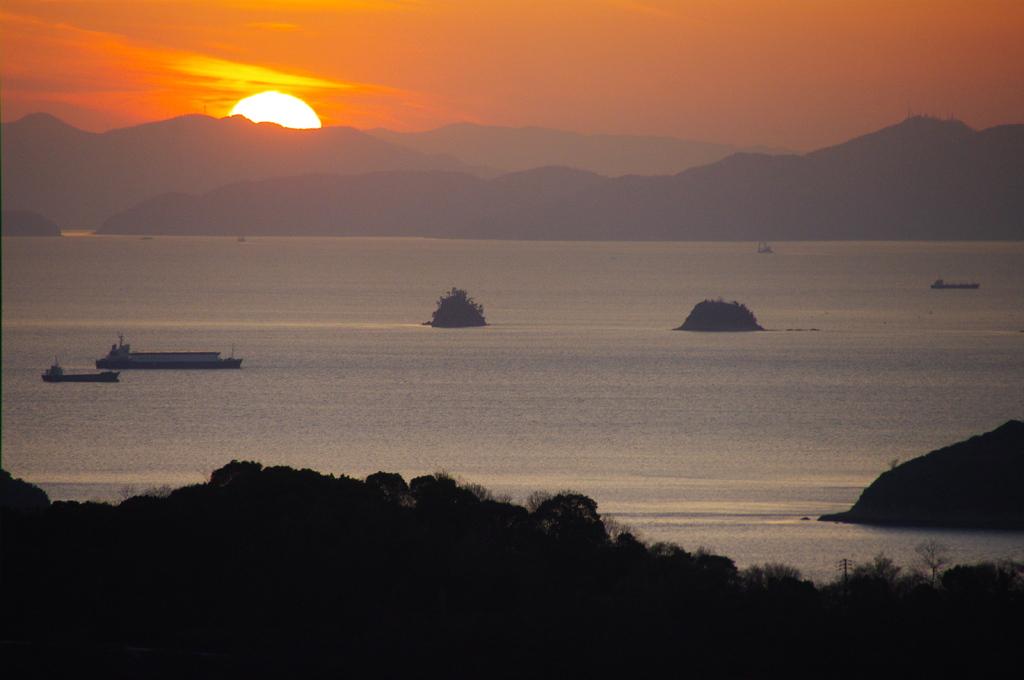 瀬戸内 児島からの夕日