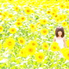 向日葵畑の妖精さん♪