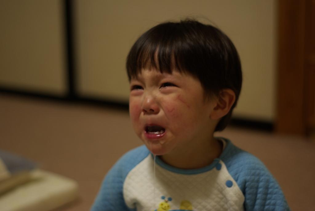ヨダレ泣き