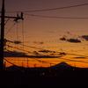 川越から富士山の夕焼け