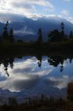 朝の穂高岳