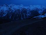 夜明け前の槍穂高連峰