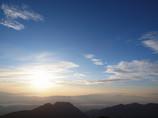 朝日と青空