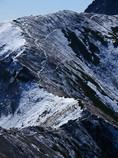 初雪の稜線