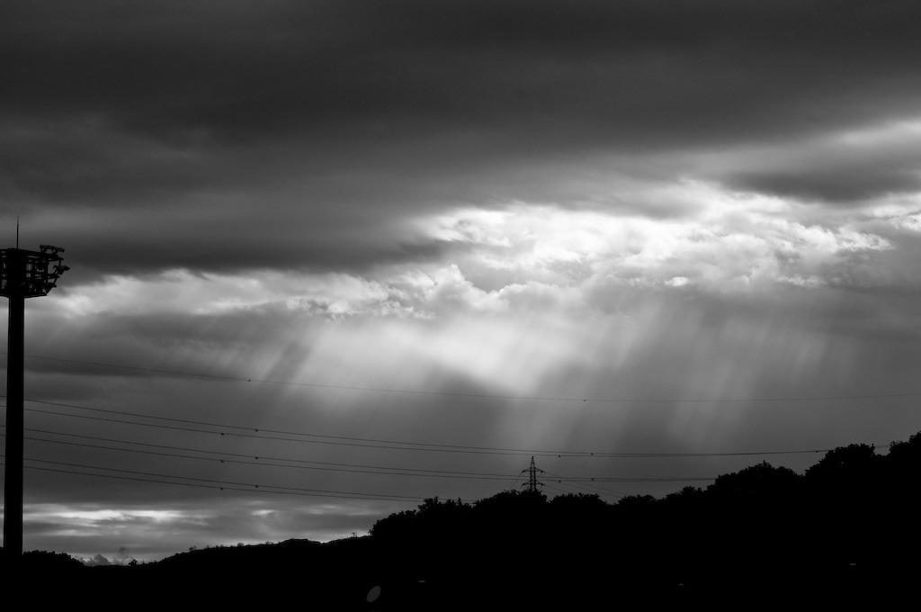 光さす雨上がり