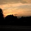 自宅の夕日