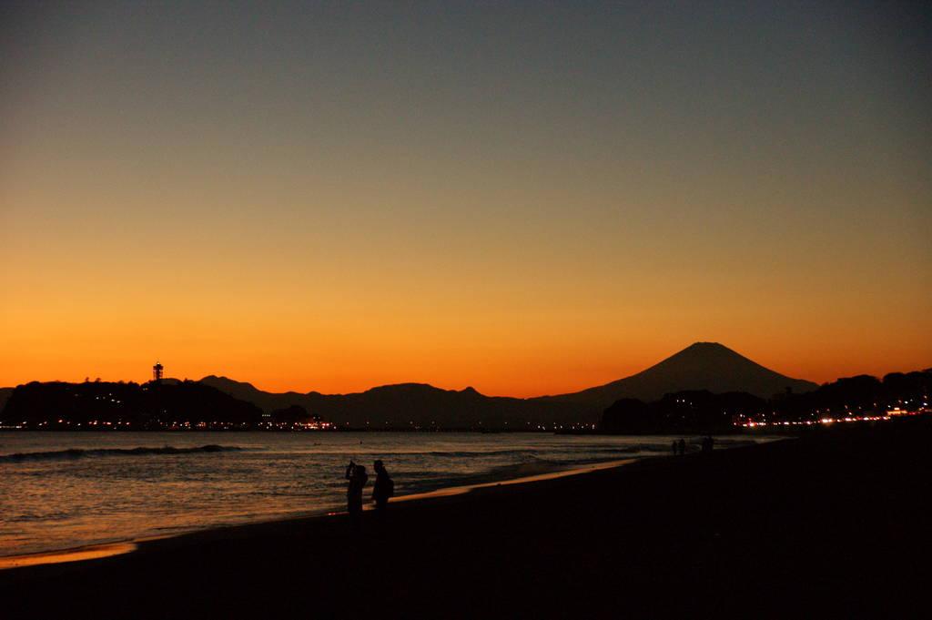 江ノ島と富士山~夕焼けVer