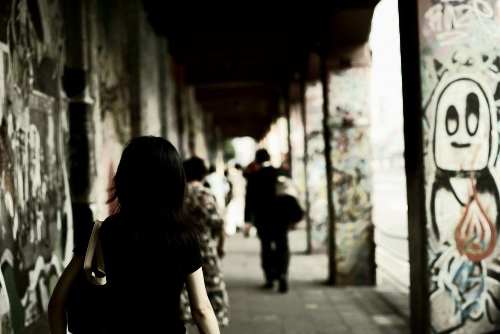 高架下の散歩