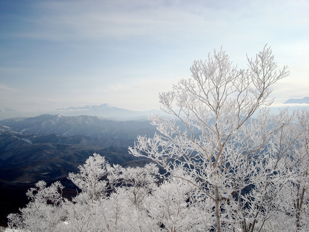 山頂からの雪景色