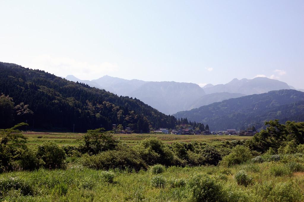 田舎の朝の風景