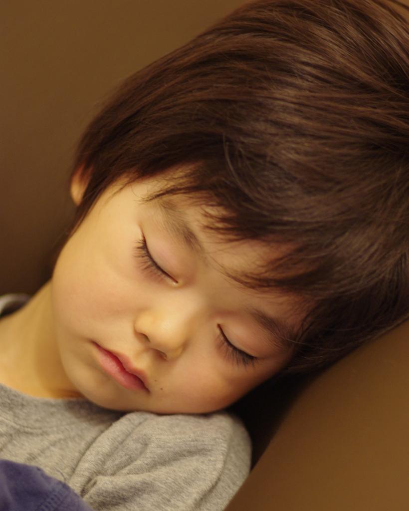 Little devil takes a nap nap nap ...
