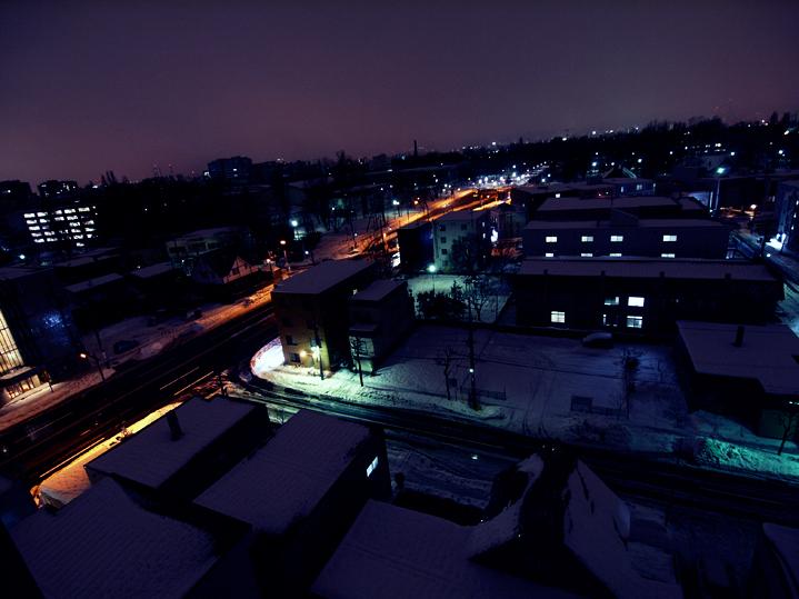 雪国の夜景