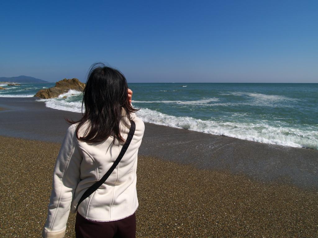 恋路ヶ浜にて