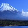 本栖湖で撮影した富士山