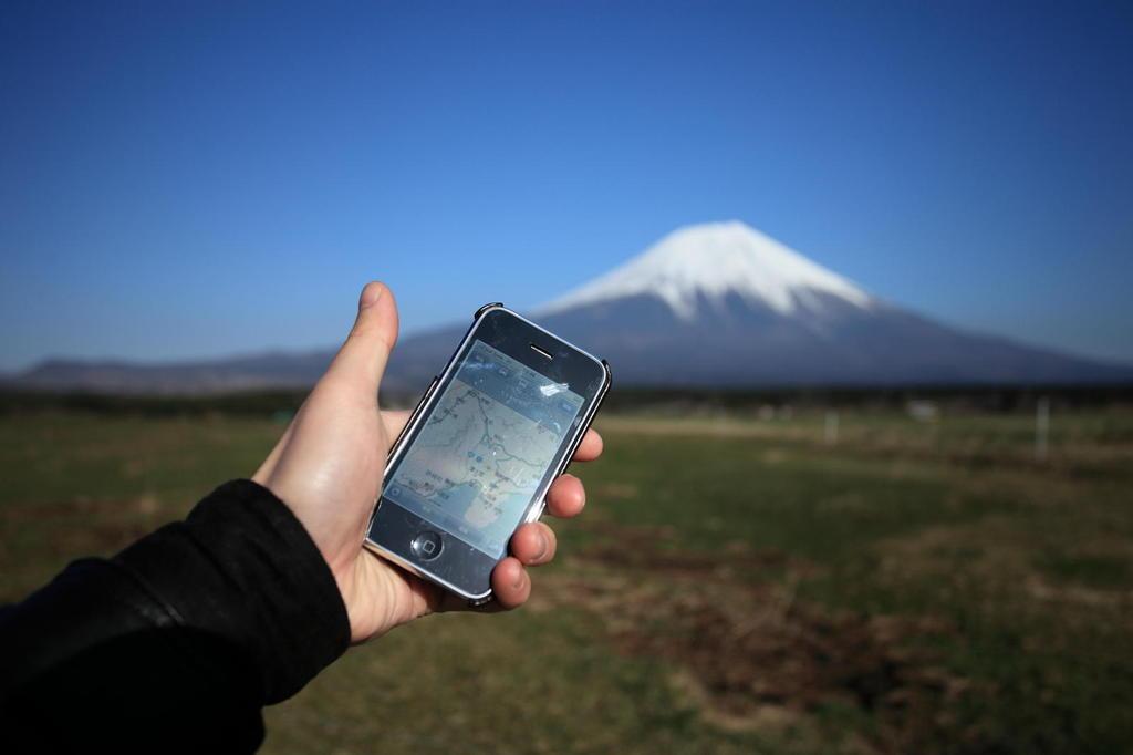 iPhone on Mt.Fuji