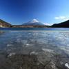 薄氷と富士