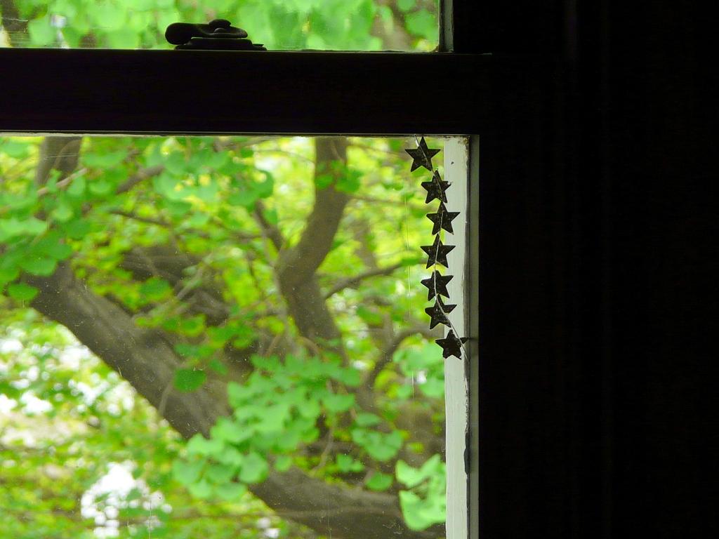 洋館の窓辺