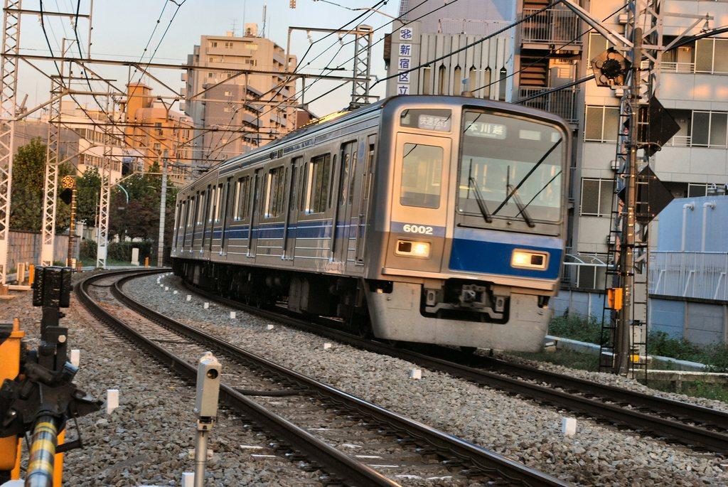 夕方の西武新宿線