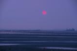 干潟の落陽