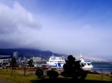 大津港の虹