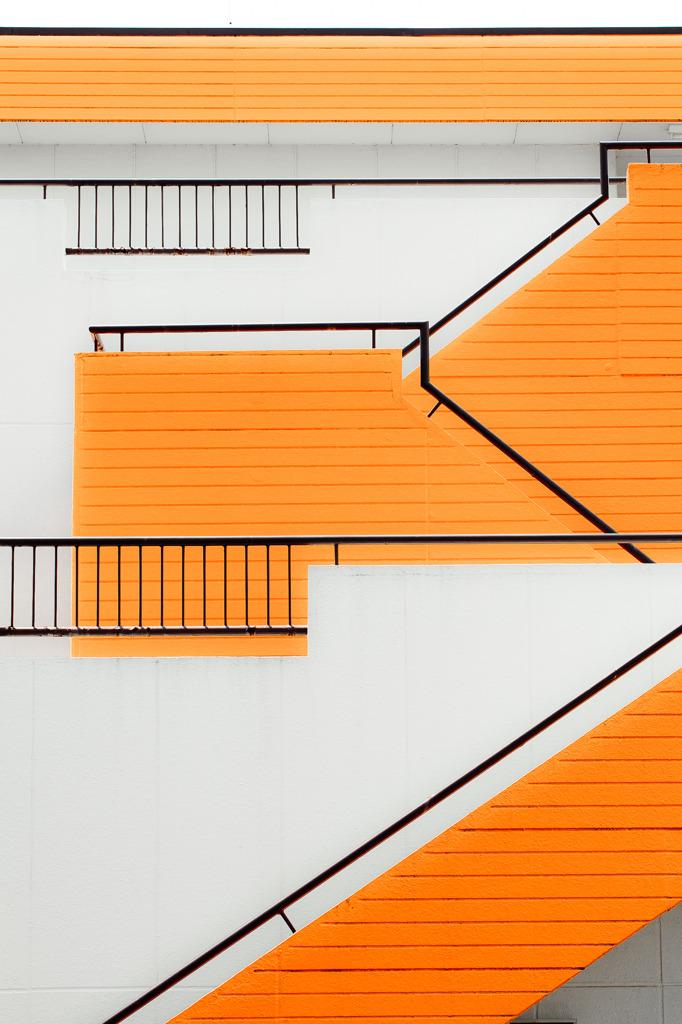 オレンジの階段
