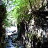 木漏れ日の岩肌
