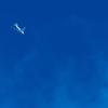 ベランダから飛行機
