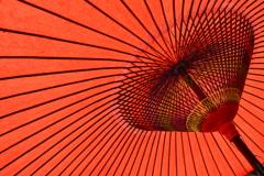白沙村荘近くの和傘
