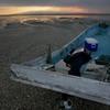 漁船と夕焼け・長洲にて・・・
