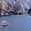 冬の庄川峡 追走