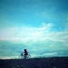 空とカメラと自転車と