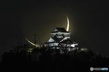 三日月と岐阜城
