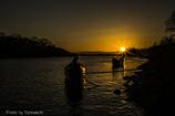 木曽川の夕暮れⅡ