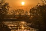 木曽川水園の夕辺に