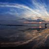 水鏡のビーチ