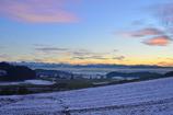 雪と夕焼け2