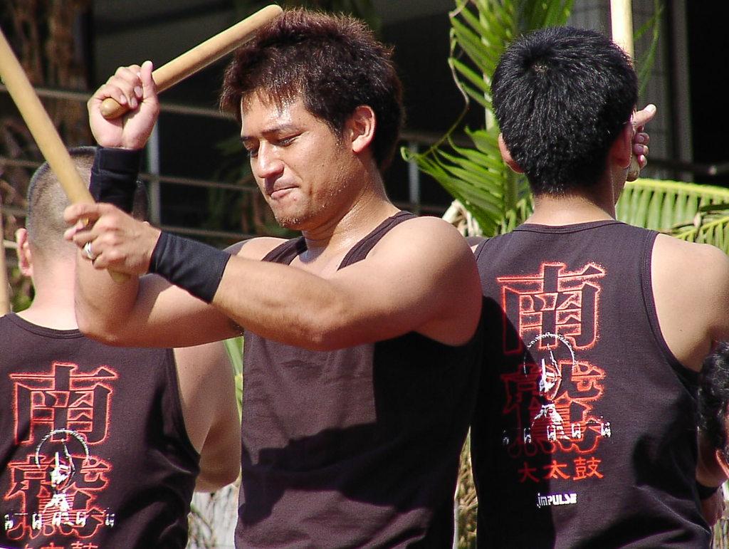 石垣島祭りにて