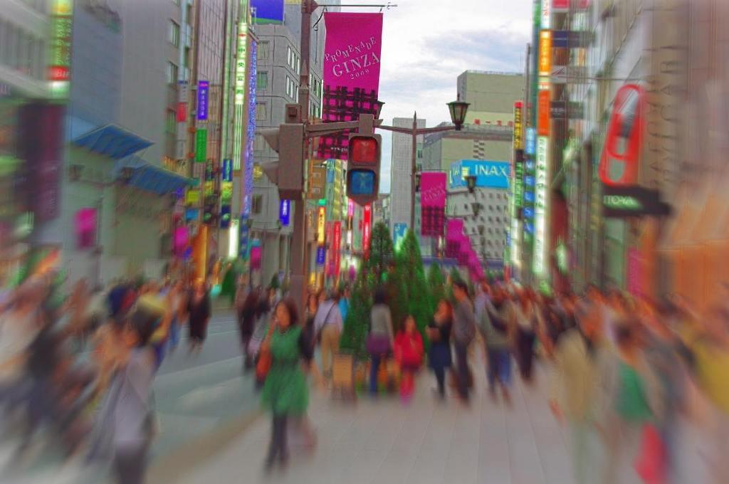 Pedestrian hour (Ginza, Japan)
