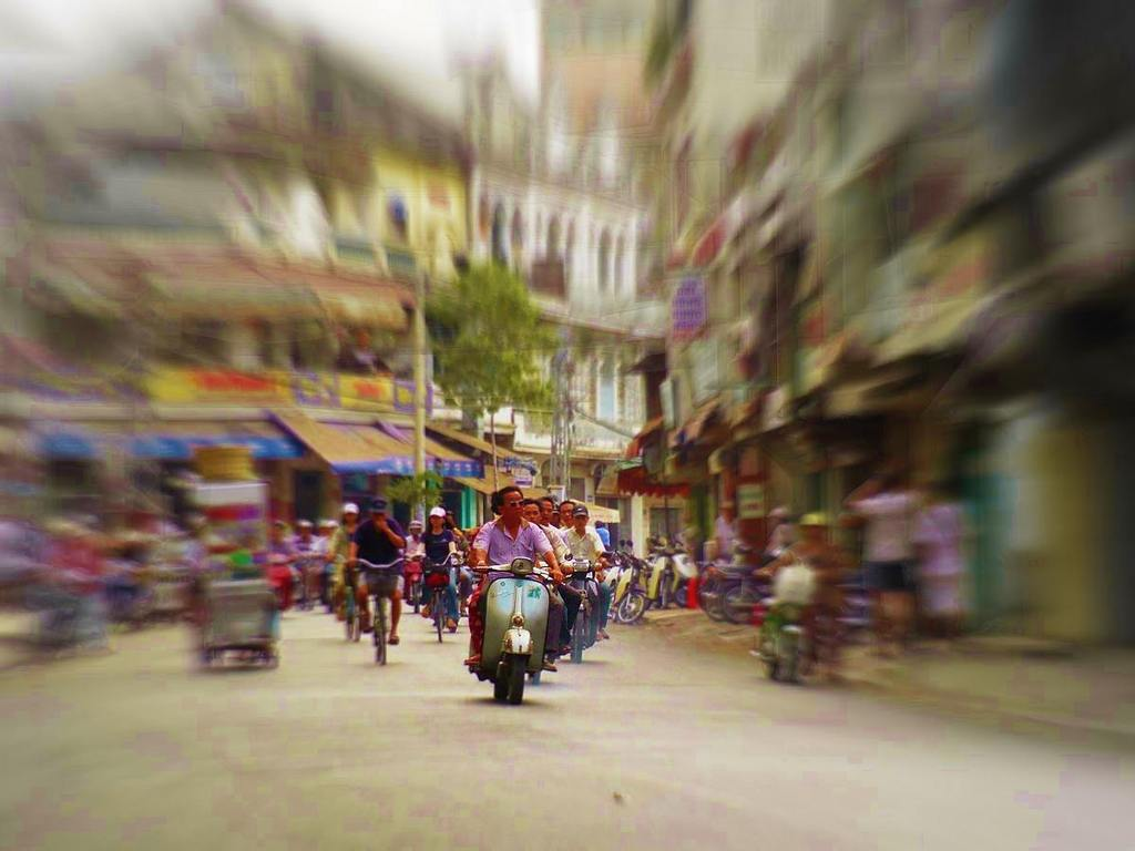 Chợ Lớn地区を走る