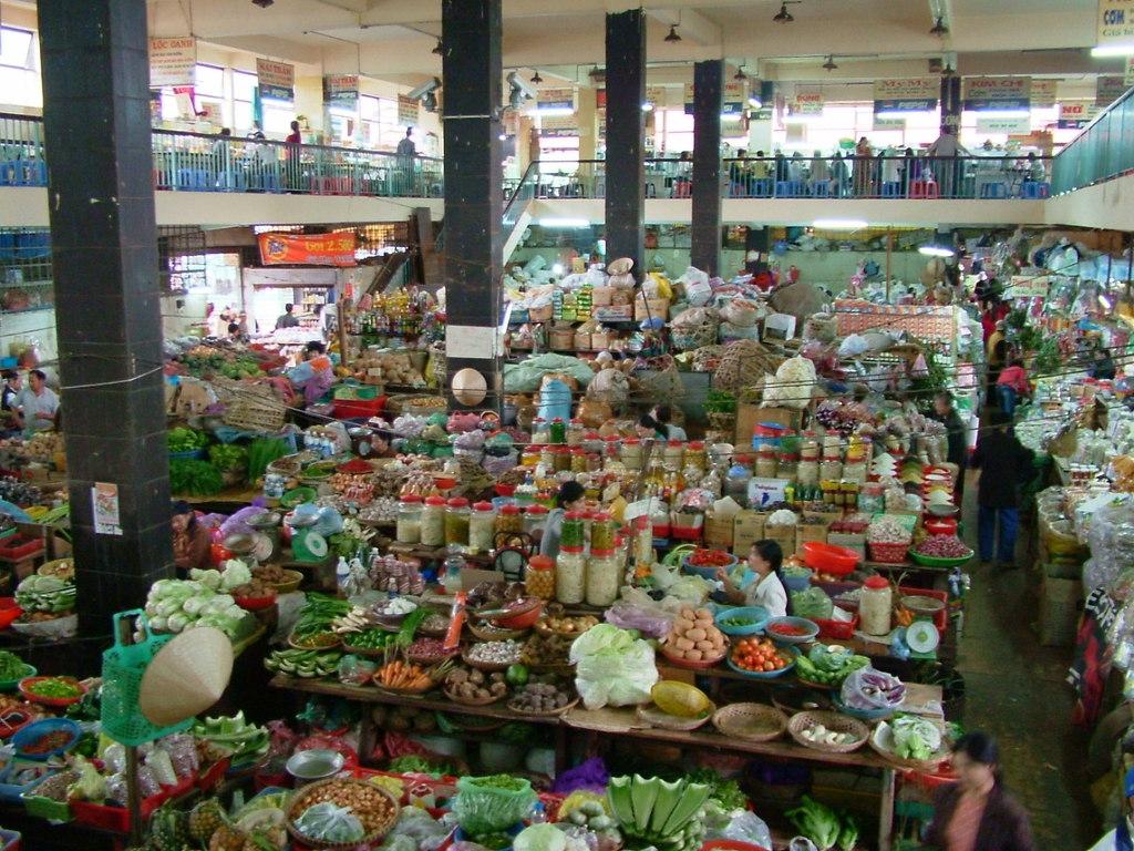 Đà Lạt の市場にて