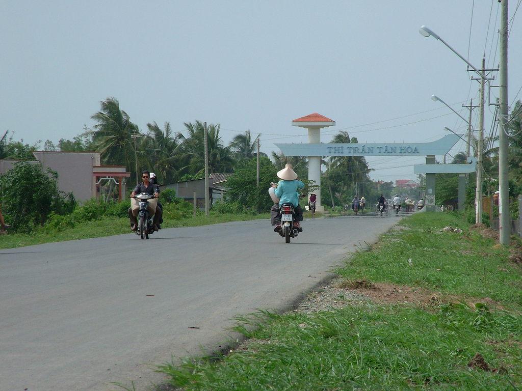 Tan Hoa 村の入り口